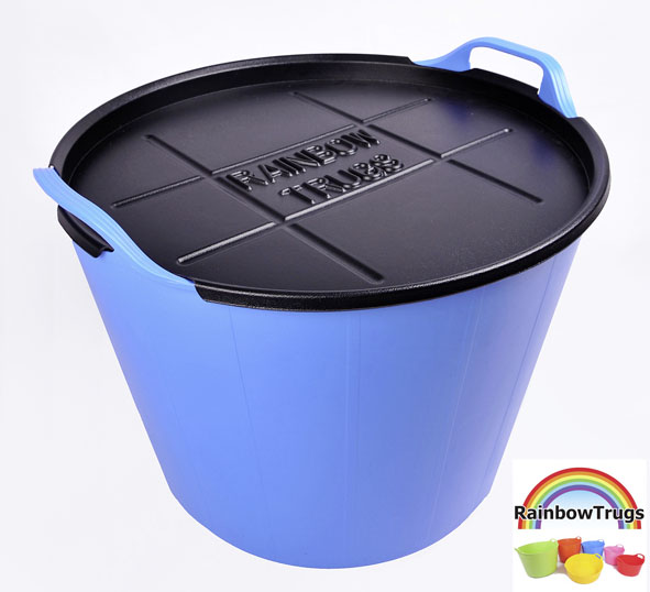 Rainbow trug with lid £7.79 for 45 litres, lid £5.99 Rainbow trugs 0845 459 8808 www.rainbowtrugs.com