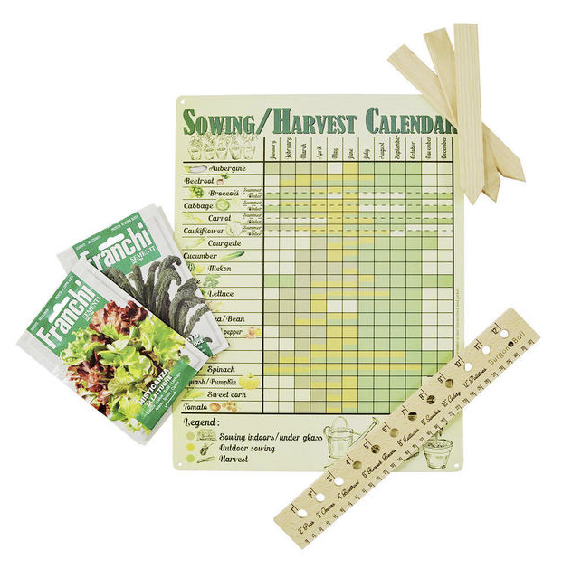 Veg seed sowing set with planner £34.95 Worm That Turned 0345 605 2505; www.worm.co.uk