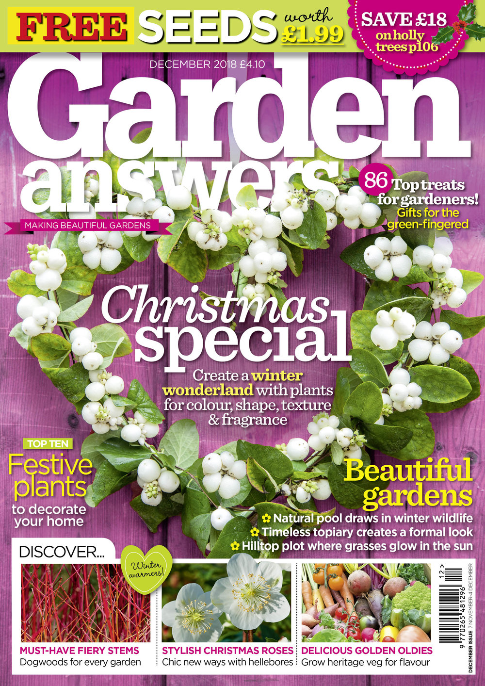 Garden Answers December 2018 cover