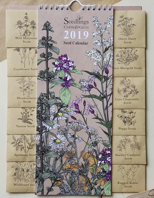 2019 Calendar with Seeds