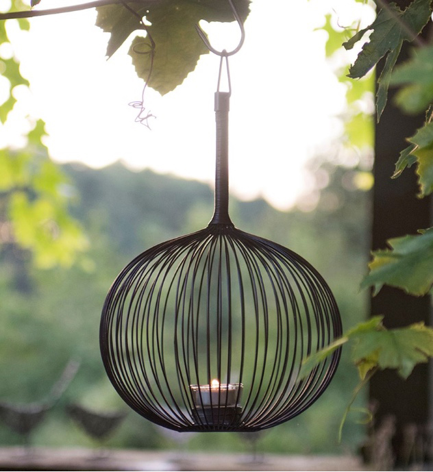 Globe tealight holder