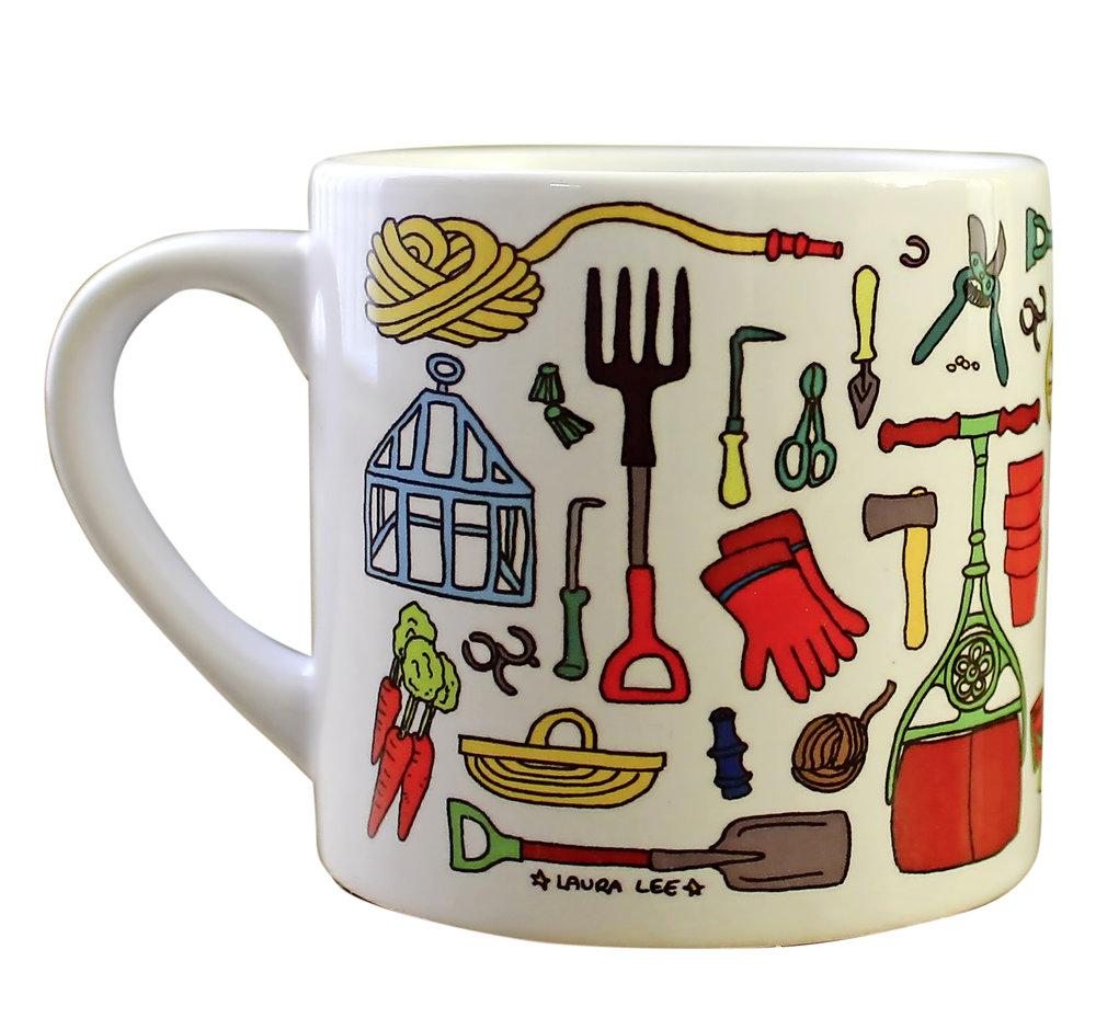 Vintage gardens mug
