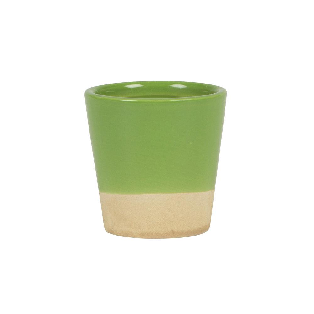 Green Dip Glaze Mini Plant Pot
