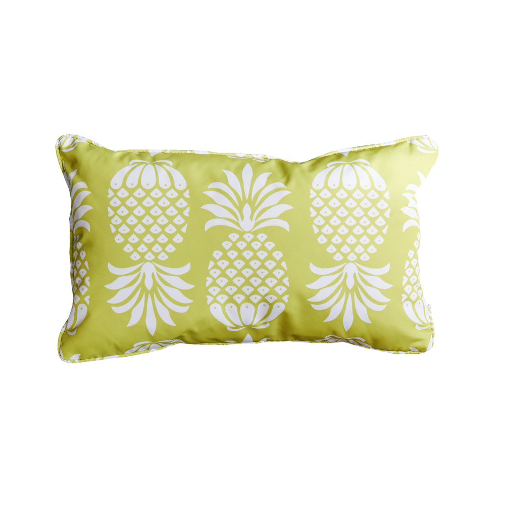 Pina Colada Chartreuse Outdoor Cushion