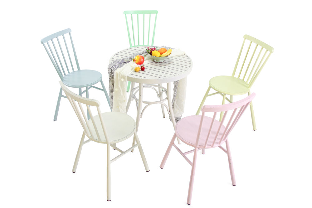 Retro cross back dining chairs