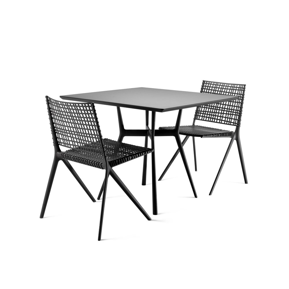 Tribu Branch square garden table & chairs