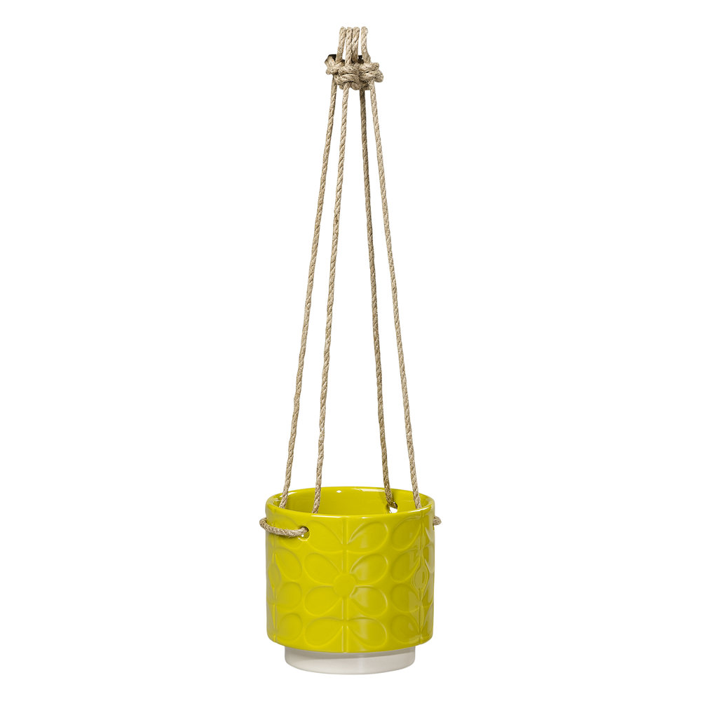 Orla Kiely 60s stem ceramic hanging plant pot