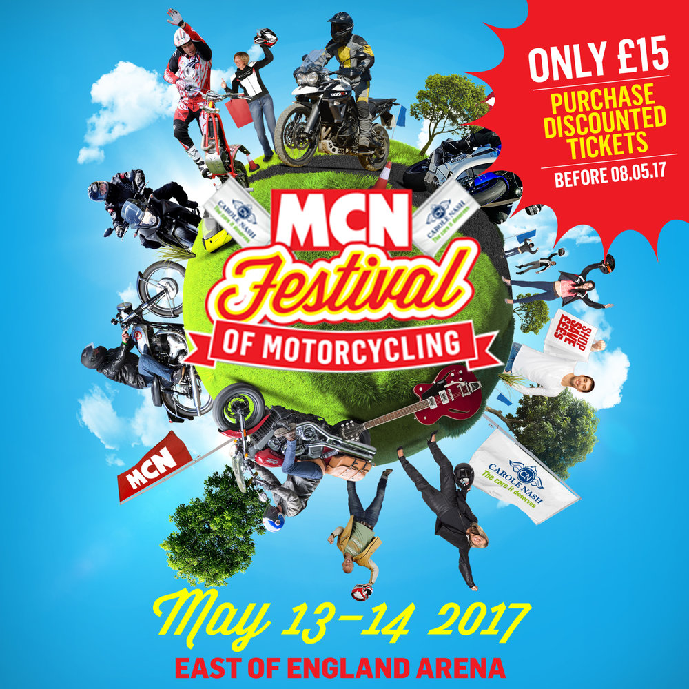 MCN Festival of Motorcycling ticket offer