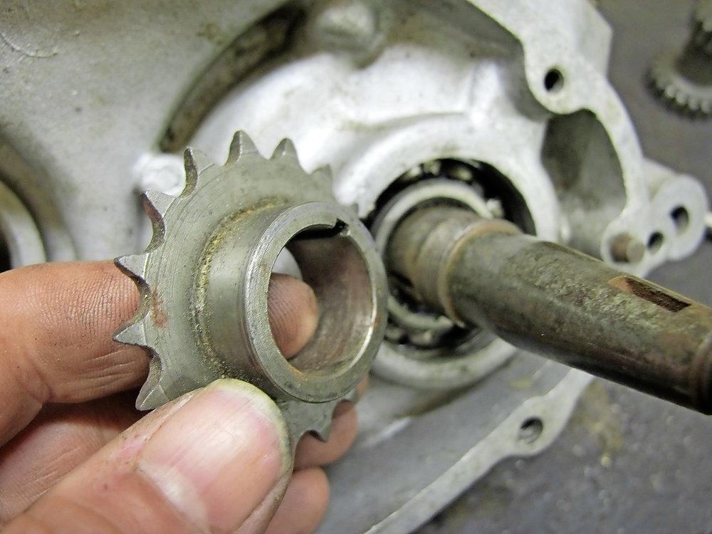 Parallel-fit sprocket on Villiers crankshaft may still be a tight fit