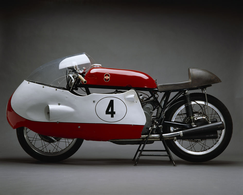 Gilera dominated the 500 class in the '50s, climaxing in two record-breaking 'dustbin' seasons