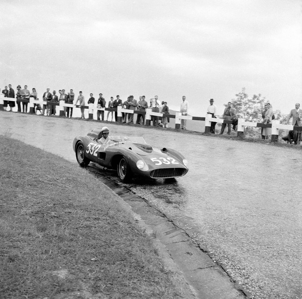 Taruffi bowed out of racing in style, manhandling a V12 Ferrari to victory in the 1957 Mille Miglia