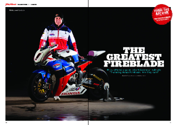 We ride John McGuinness's Fireblade