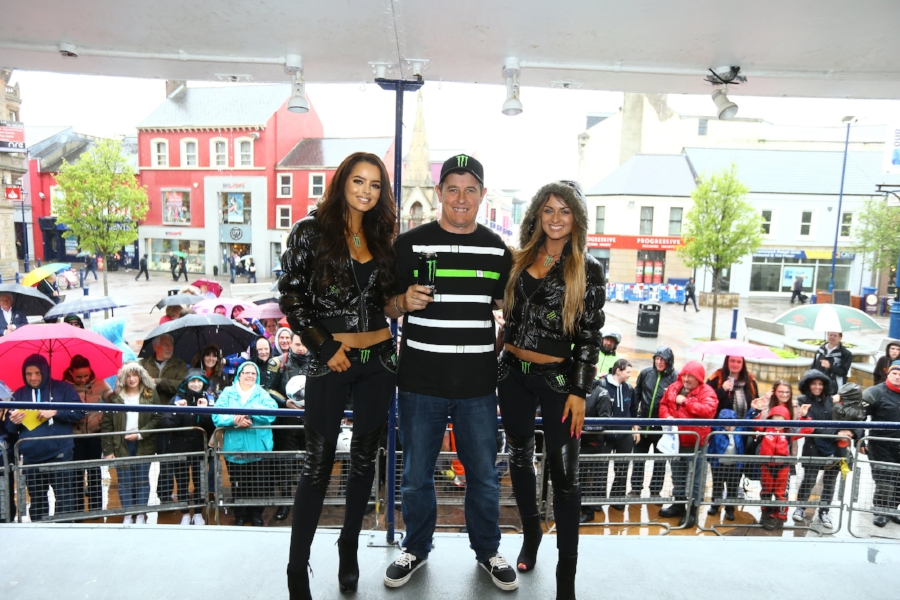 John McGuinness with the Monster girls