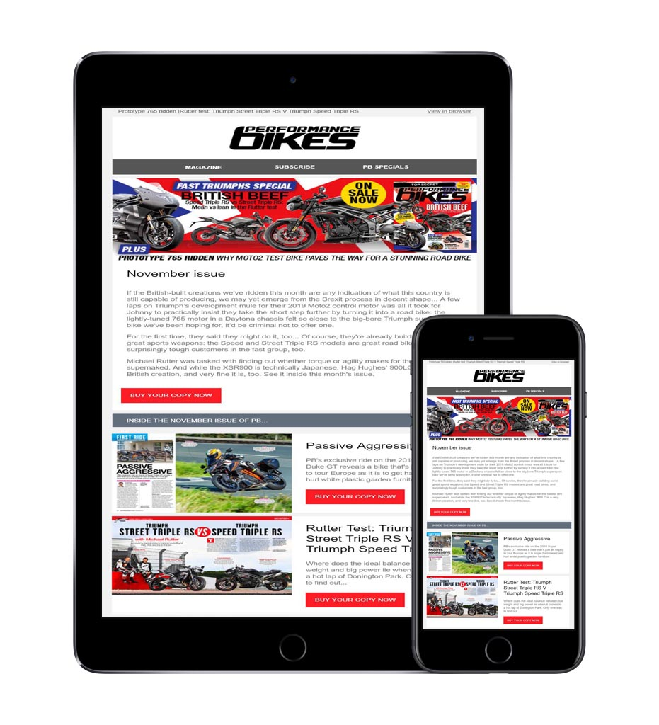 Get the free Performance Bikes newsletter