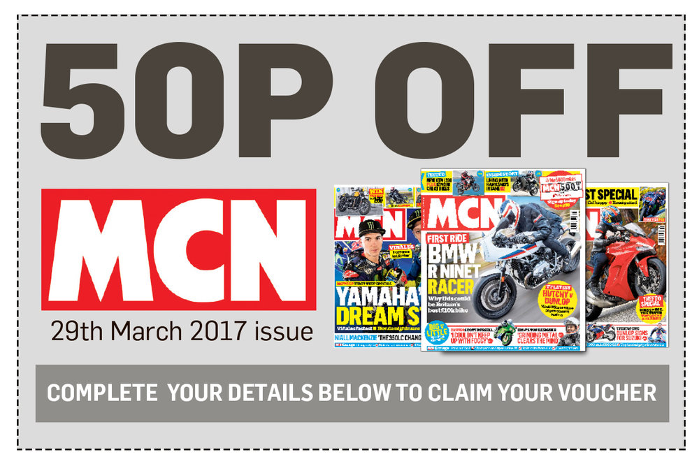 50p off MCN 29th March 2017 issue