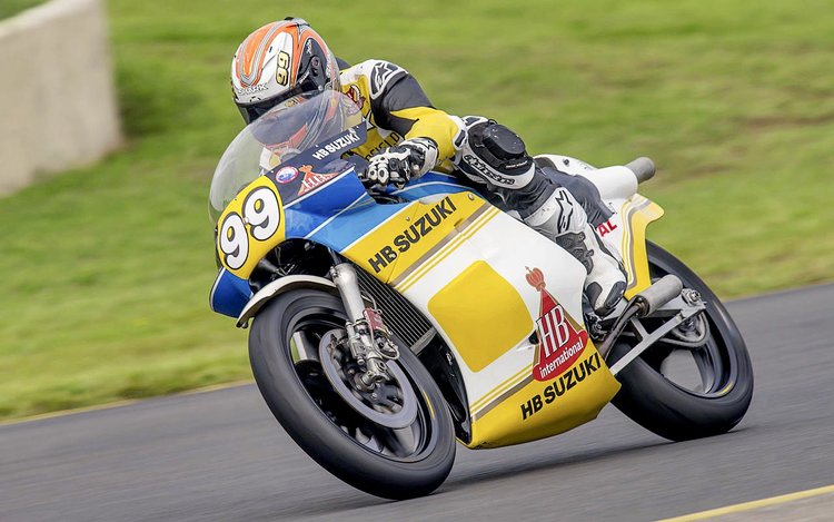 McW gets his two-stroke fix at Eastern Creek, on an RG500