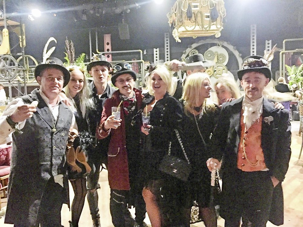 Steampunk afterparty was one to remember. Just look at Jezza's eyes... if you can find them