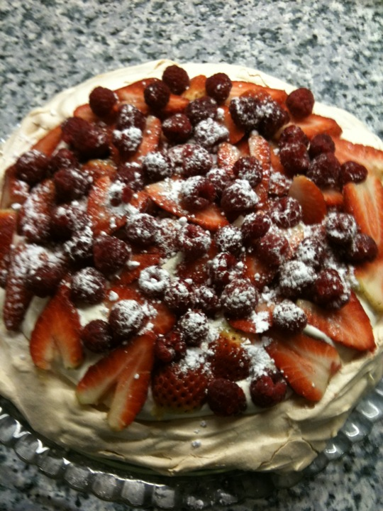 Abigall's strawberry pavlova
