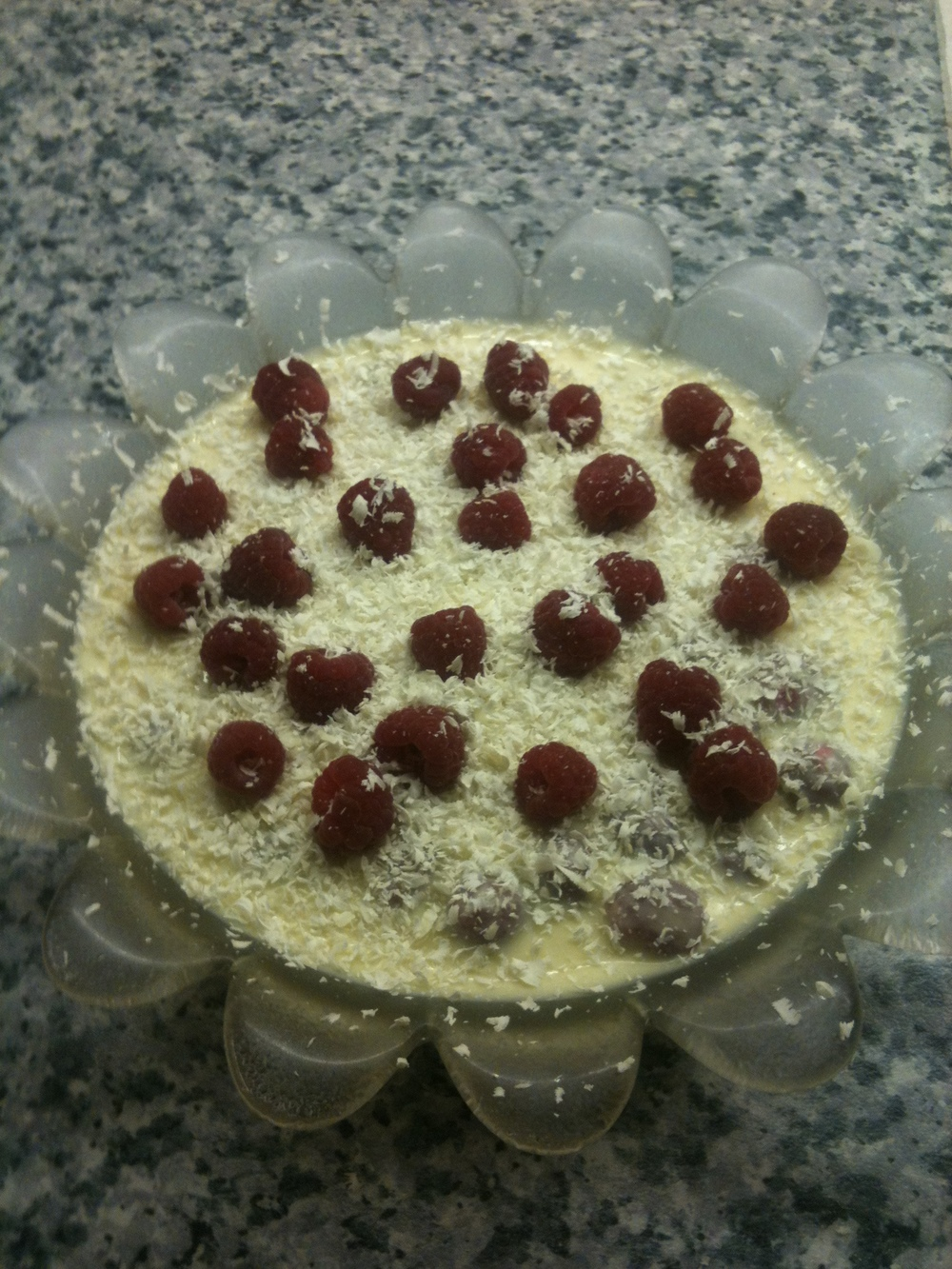 Abigall Brewster's white chocolate and raspberry trifle