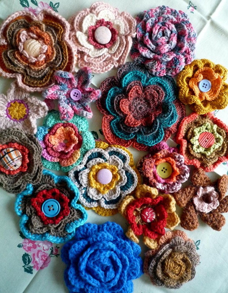 Rachel's also made these crochet flowers
