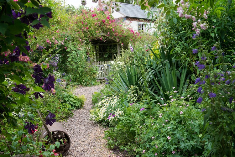 The Borders Of This Worcestershire Garden Are Filled With Old Fashioned Flowers