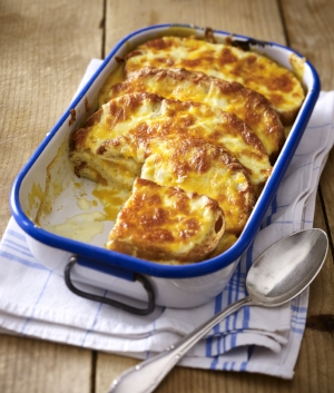 Savoury bread and butter pudding recipe LandScape magazine Mar/Apr17