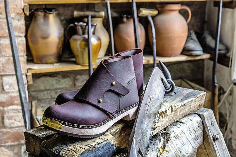 58f04d4315b2 Jeremy Atkinson s custom-made traditional clogs are crafted using methods  which have stood the test of time.
