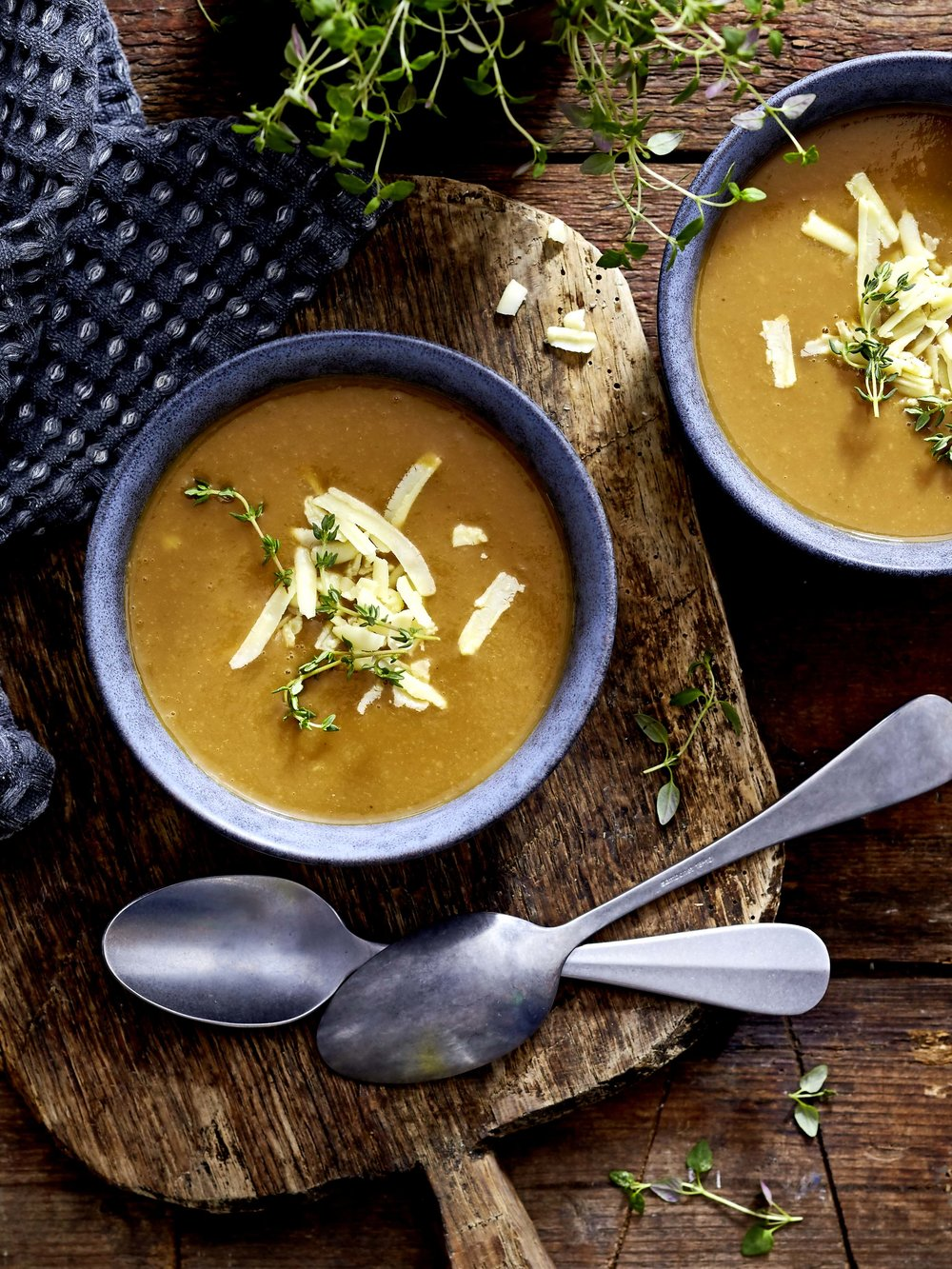 A warming bowl of stout and cheddar soup, quickly thrown together from a recipe in the March 2018 issue of LandScape