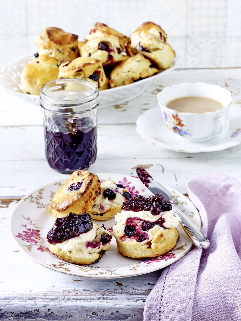 Blackcurrants make a delicious, seasonal alternative in a cream tea. From a recipe in the July 2018 issue of LandScape