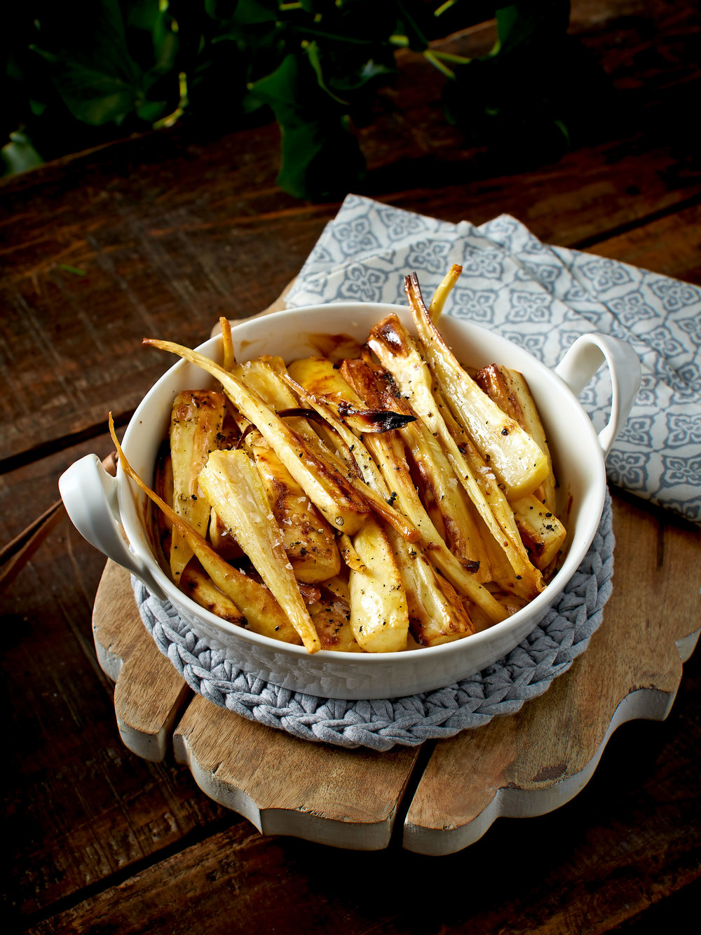 A twist on tradition: these salted caramel parsnips make a subtly sweet side.