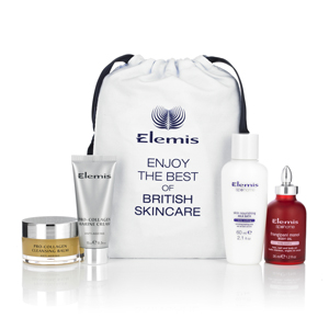 Your FREE ELEMIS goody bag containing four mini products.