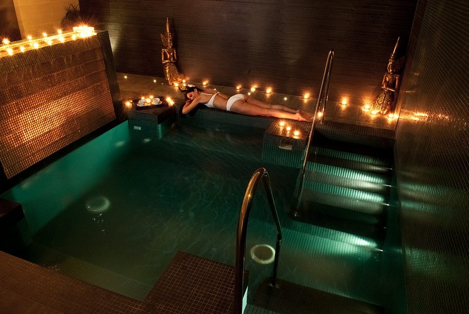 The Sanctuary is a private spa area for two where you'll be served tea