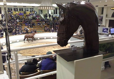 Frankel life-size bronze at Tattershall Sales