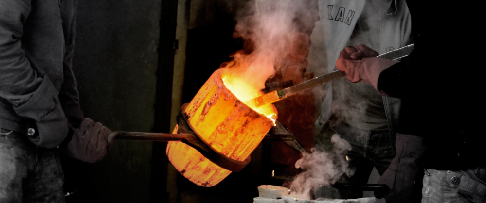 Casting a bronze requires immense skill - often foundries become life-long partners.