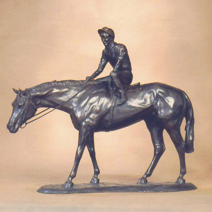 In the Paddock - Limited Edition bronze sculpture by Gill Parker.