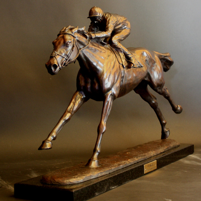 Frankel - Limited Edition bronze by Gill Parker.