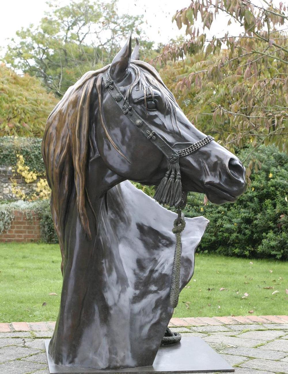LIFE-SIZE ARAB HORSE HEAD