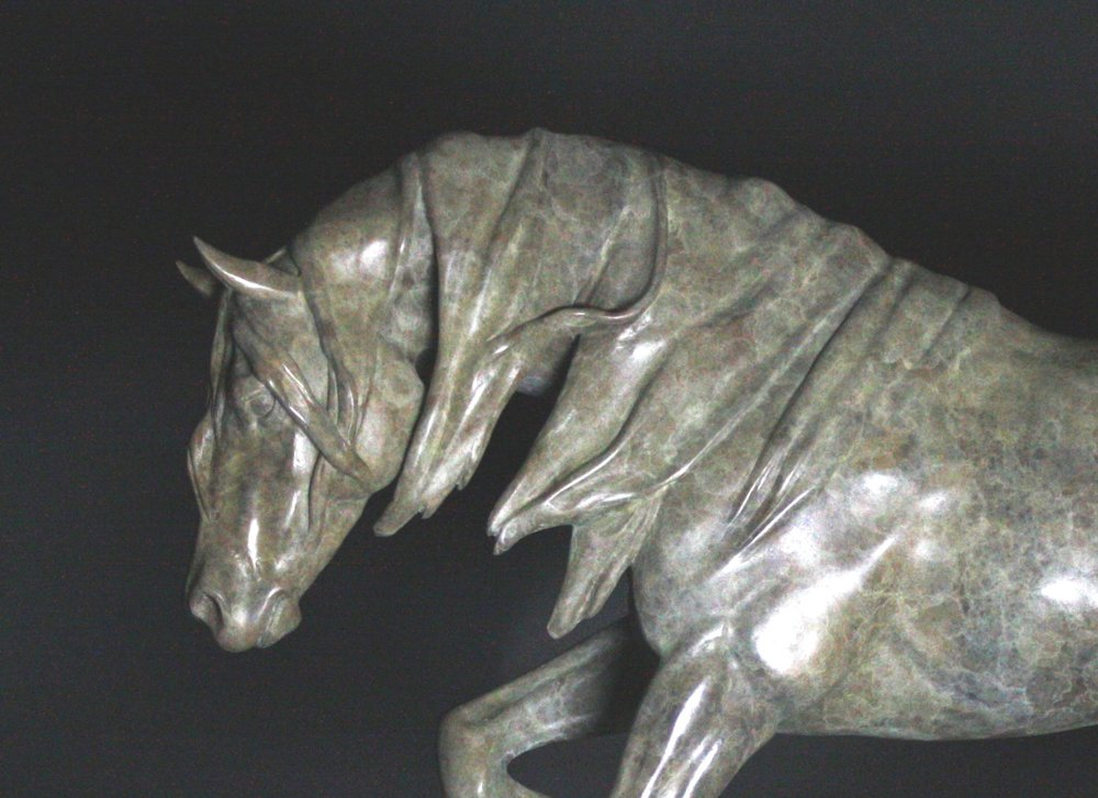 'Dynamic' one of the limited ed. bronzes on show this year