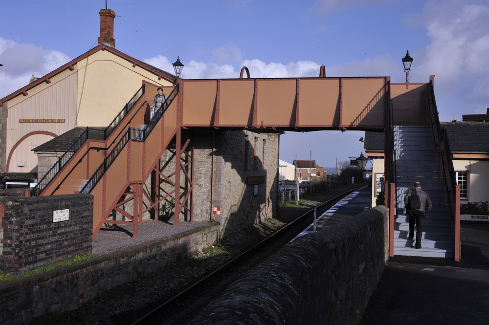 Watchet station on the West Somerset Railway, near to where the suspected unexploded ordnance was found on May 18, causing the WSR to suspend its services until it was safely removed. Credit: Classic Traction