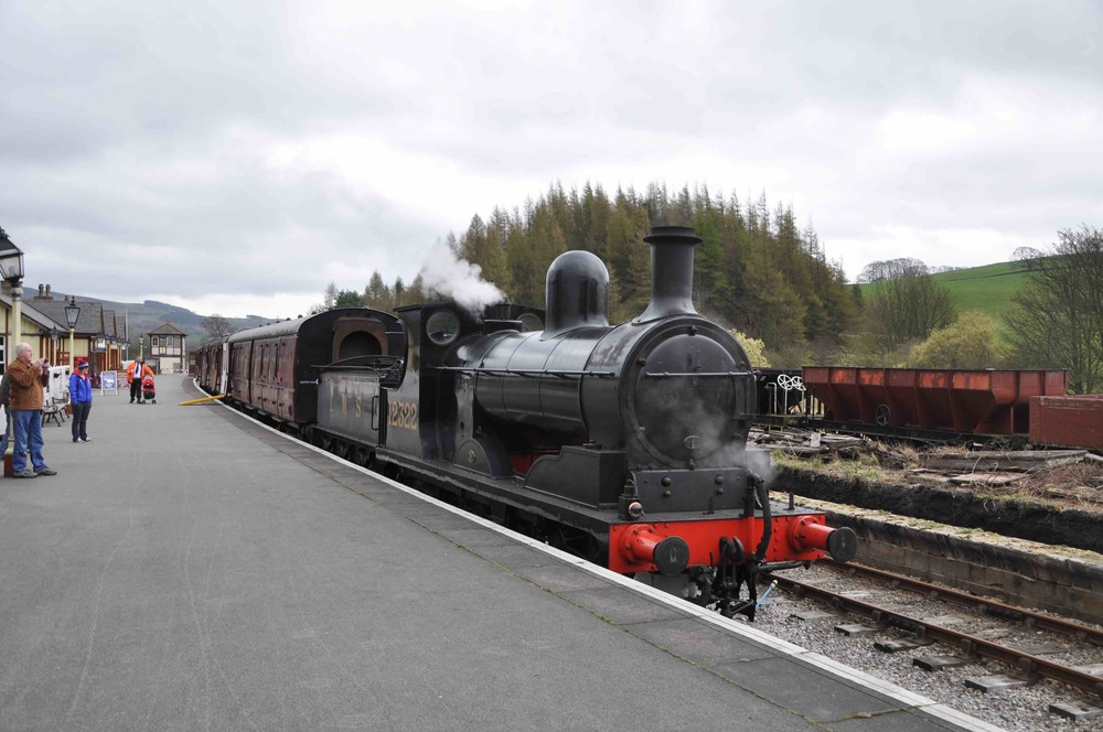 The sole-surviving L&Y 'A' class No. 1300 appears in its LMS guise as No. 12322 at Bolton Abbey station on the Embsay & Bolton Abbey Railway on April 5 2014. HOWARD JOHNSTON