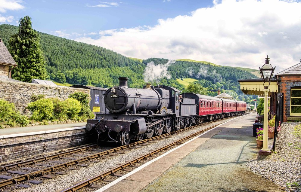 The last time No. 7822 Foxcote Manor took on the identity of one of its scrapped classmates was during the Llangollen Railway's '1960s Weekend'. It is seen here at Carrog station on July 23 as No. 7807 Compton Manor. DUNCAN LANGTREE