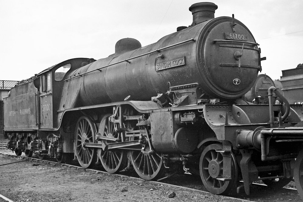 The next in line - the A1 Steam Locomotive Trust aims to build a brand new Gresley 'V4' 2-6-2 after 'P2' No. 2007  Prince of Wales  is finished. Depicted is No. 61700  Bantam Cock , the only 'V4' to be officially named. COLOUR RAIL
