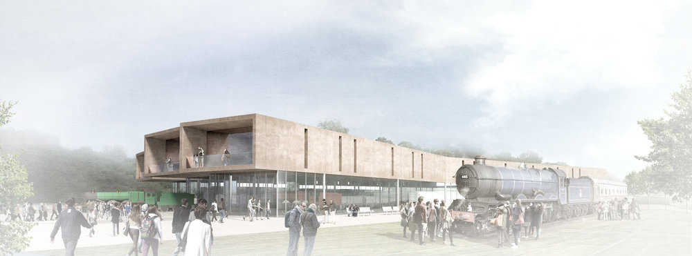 An artist's impression of how the new museum will look once it is completed. GCR/WILKINSONEYRE