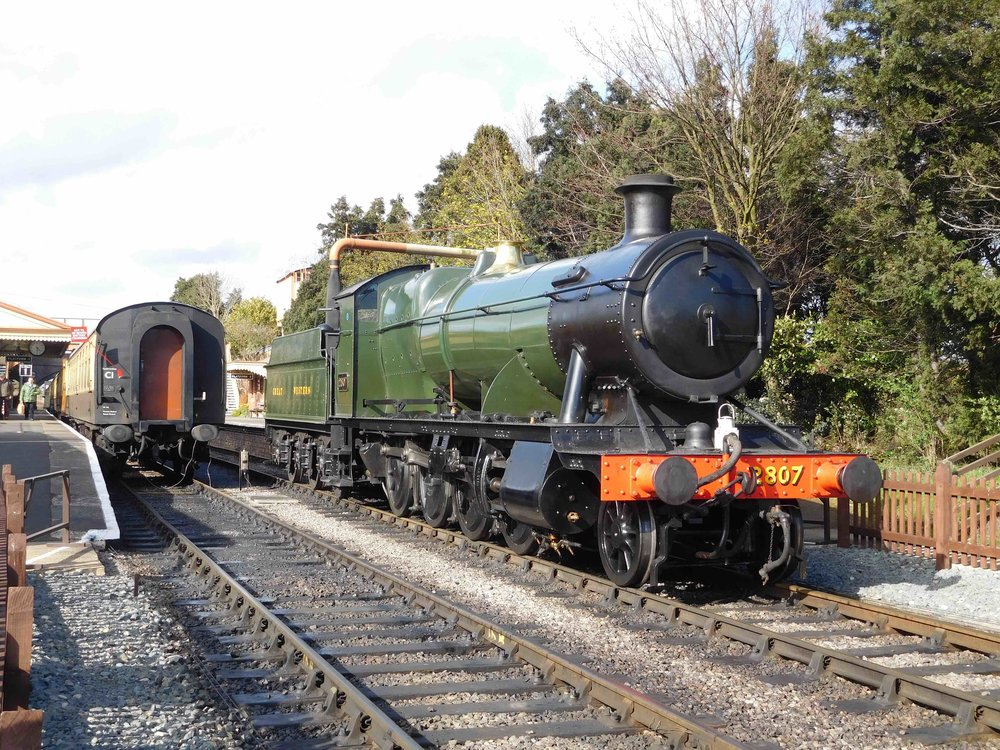 Back at its home railway, GWR '28XX' No. 2807 simmers at Toddington on the Gloucestershire Warwickshire Railway after the last train of the day on April 6. TOM BRIGHT