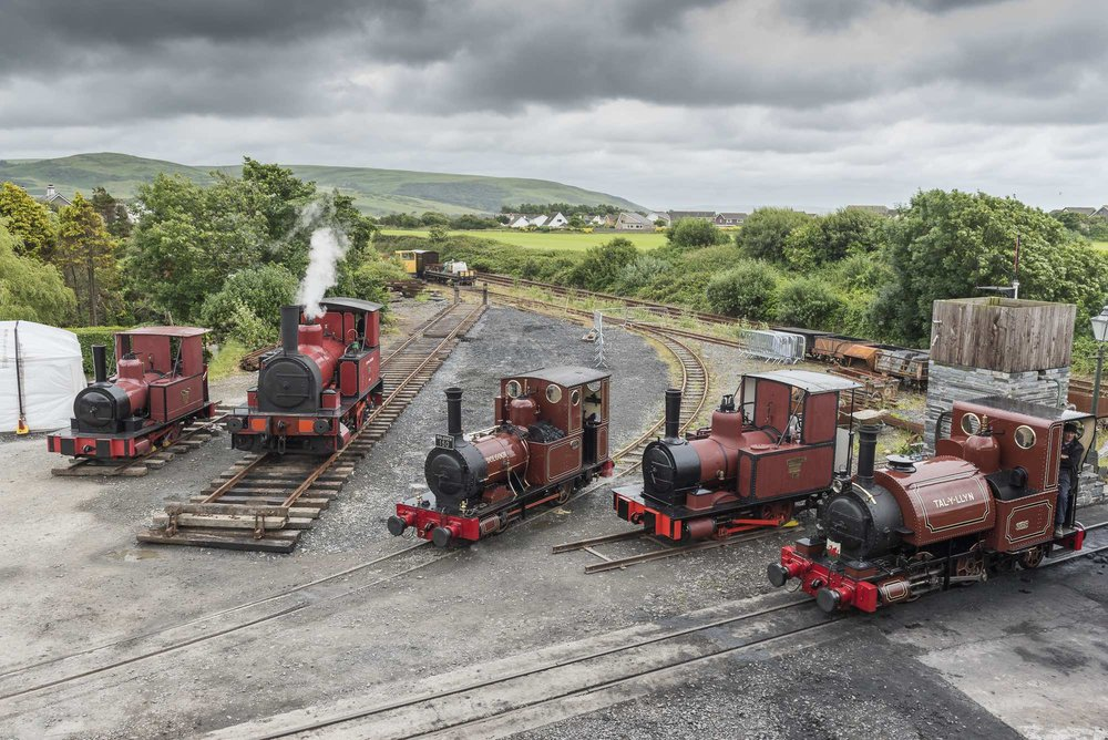 William Finlay was one of the stars at the gathering of the five surviving Fletcher Jennings locomotives at the Talyllyn Railway for the line's 'Grand Finale' gala on July 1-3. The 3ft2¼-in gauge locomotive is second from the right. DARREN TURNER