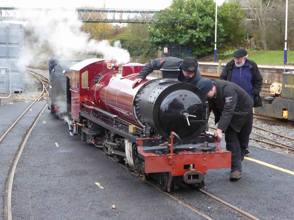 The partially restored 'Train from Spain' makes its first moves for the first time in 84 at the Ravenglass & Eskdale Railway on November 22. KEITH HERBERT