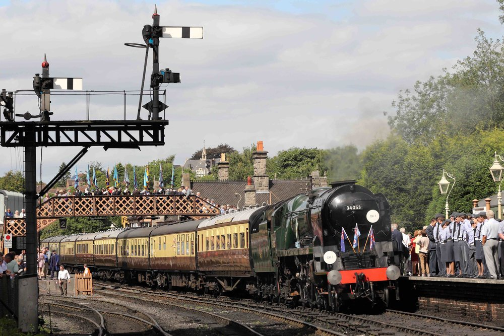 There's no place like home, as rebuilt 'Battle of Britain' No. 34053 Sir Keith Park will leave the SVR for the Swanage Railway's 'Strictly Bulleid' gala. It is pictured here at Bridgnorth at its rededication ceremony. BOB SWEET
