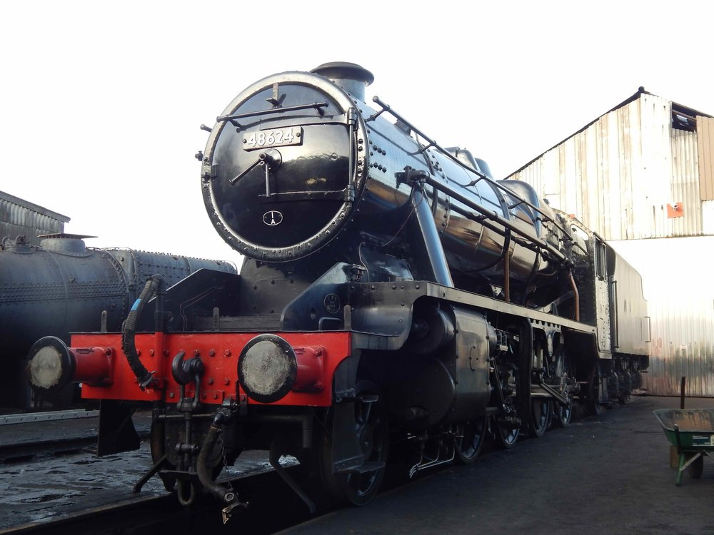 Visiting '8F' No. 48624 will be used to re-create the last passenger train to pass through Llangollen in BR days at the railway's 'Along Birkenhead Lines' gala on March 3-5. PETER DICKINSON
