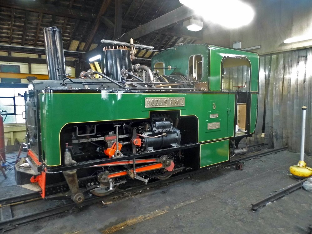 Resplendent in familiar SMR green, No. 5 Moel Siabod is ready for the start of the season when it will return to service after 17 years. SMR