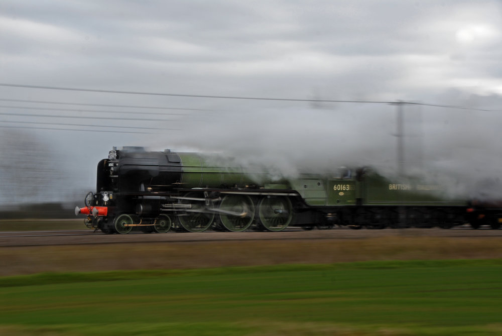 New-build 'A1' No. 60163  Tornado  - the first British steam locomotive to officially do 100mph since 1967 - at speed. ROBIN COOMBES